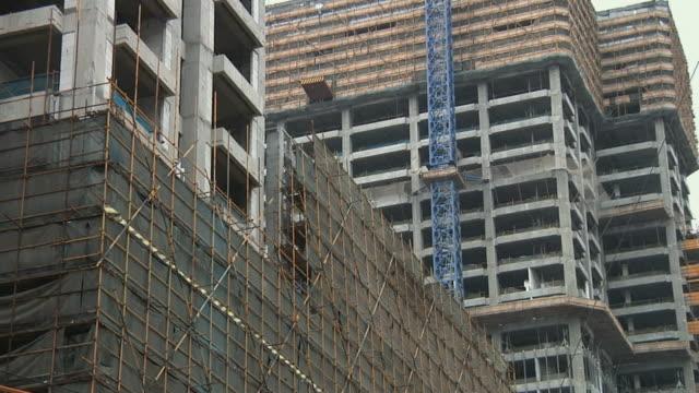 stockvideo's en b-roll-footage met ms la buildings under construction / ningbo, zhejiang, china - ningbo