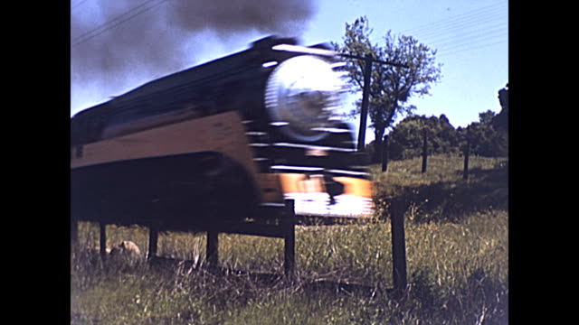 a southern pacific company highspeed passenger service train steams past the camera california 1939 built by lima locomotive works - passenger train stock videos & royalty-free footage