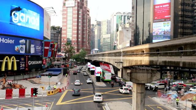Buking Bintang intersection in Kuala Lumpur, Malaysia capital city