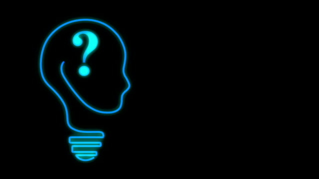 bulb brain - question mark stock videos & royalty-free footage
