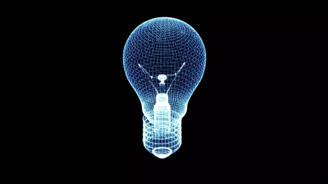 bulb wire 3d bulb - energy efficient lightbulb stock videos and b-roll footage