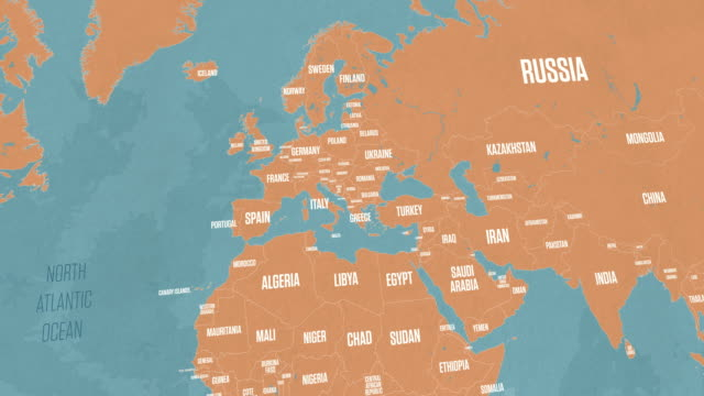 bulgaria map on world map - diplomacy stock videos & royalty-free footage