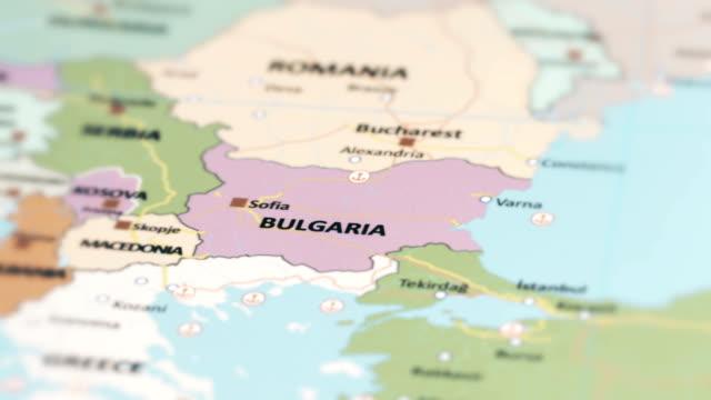 europe bulgaria on world map - bulgaria stock videos & royalty-free footage