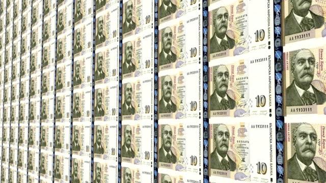bulgarian lev notes - bulgaria stock videos & royalty-free footage