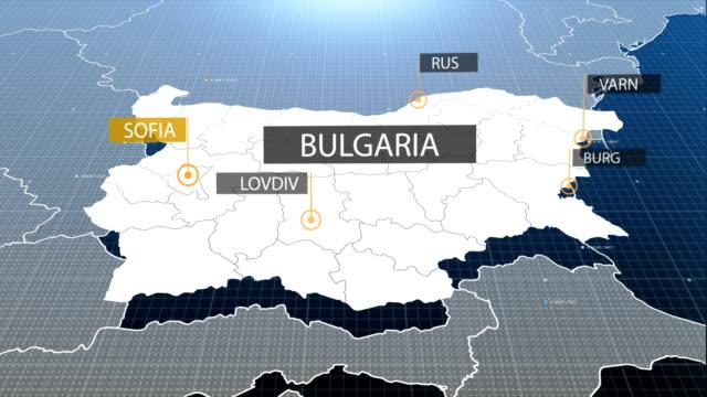 bulgarian map - bulgaria stock videos & royalty-free footage