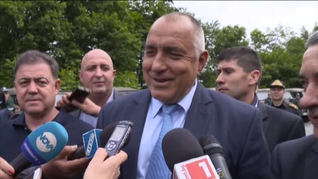 bulgarian prime minister boyko borissov interior minister rumyana bachvarova defence minister nikolay nenchev and national front for the salvation of... - national front stock videos and b-roll footage