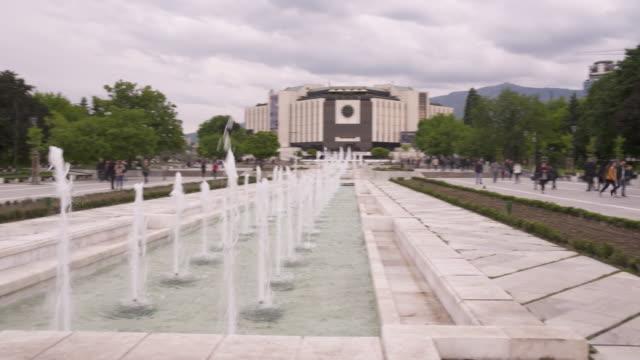 bulgarian square, sofia, bulgaria - bulgaria stock videos & royalty-free footage