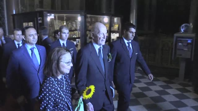 vídeos de stock, filmes e b-roll de bulgaria's formerly exiled king simeon saxe coburg celebrates his 80th birthday with a morning mass at the alexander nevski cathedral in sofia in an... - rei pessoa real