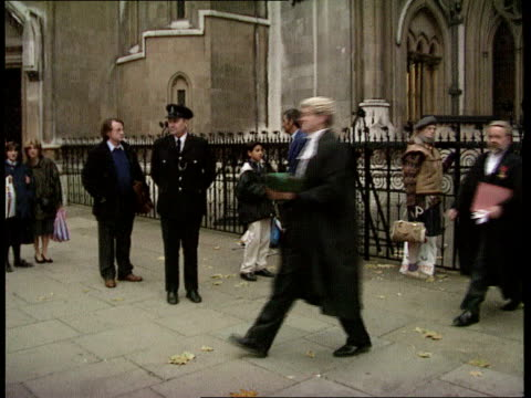 High court sentencing ruling London Westminster MS Pkf ZOOM IN Lord Chief Justice Peter Taylor High Court MS Judges in wigs processing along London...