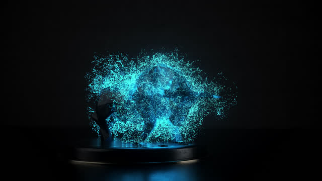 bull bursting into particles symbolising growing stock market - bull market stock videos & royalty-free footage