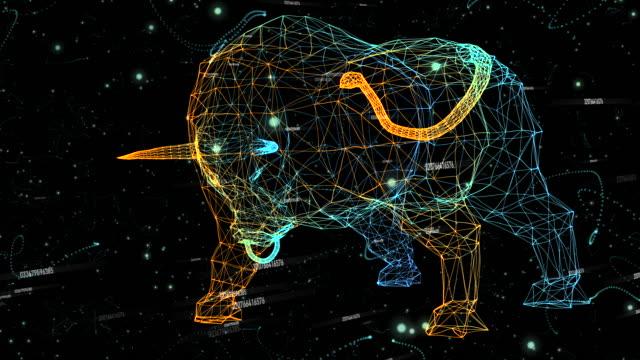 Bull aus Teilchen - mit Nummern generiert