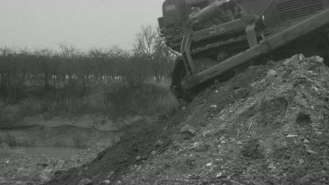 1954 montage bulldozer working at site of performance trials / arkwright, england, united kingdom - 1954 stock videos & royalty-free footage