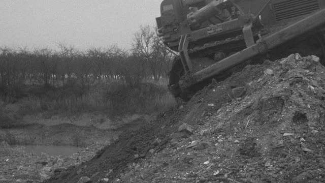 1954 montage bulldozer working at site of performance trials / arkwright, england, united kingdom - 1954 stock videos and b-roll footage