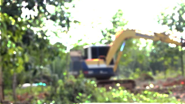 bulldozer working in the construction site - bulldozer stock videos and b-roll footage