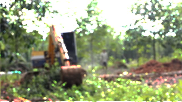 bulldozer working in the construction site - bulldozer stock videos & royalty-free footage