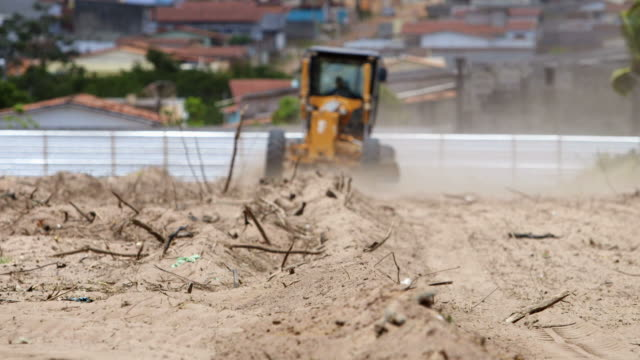 bulldozing a construction site - latin america stock videos & royalty-free footage