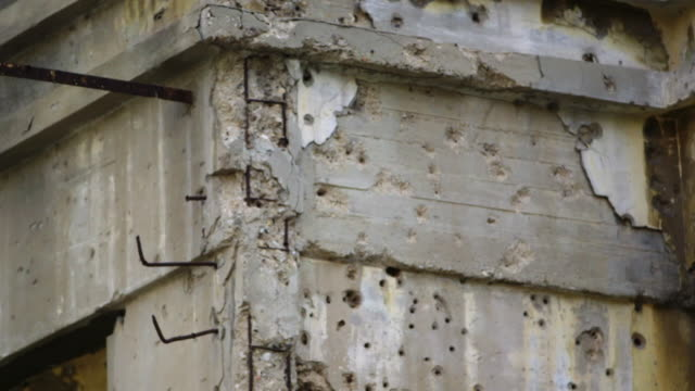 bullet hole damaged buildings, beirut - war and conflict stock videos & royalty-free footage