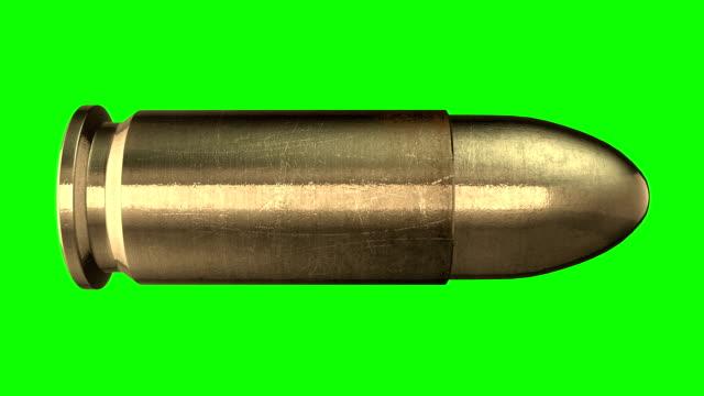 kugel. luminanz-matte - pistolenschießen stock-videos und b-roll-filmmaterial