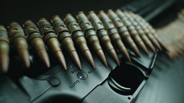 bullets and assault rifle - extreme close up stock videos & royalty-free footage