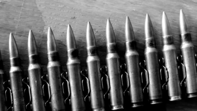bullets b & w  ba - ammunition stock videos and b-roll footage