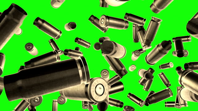 bullets flight  green screen - cartridge stock videos and b-roll footage