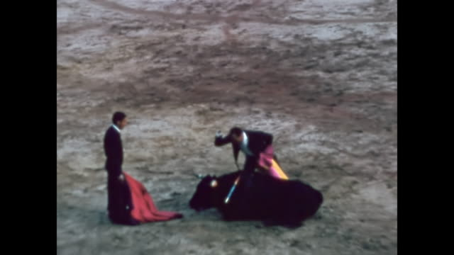 1957 - bullfighting at plaza de toros las ventas, madrid - majorca stock videos & royalty-free footage