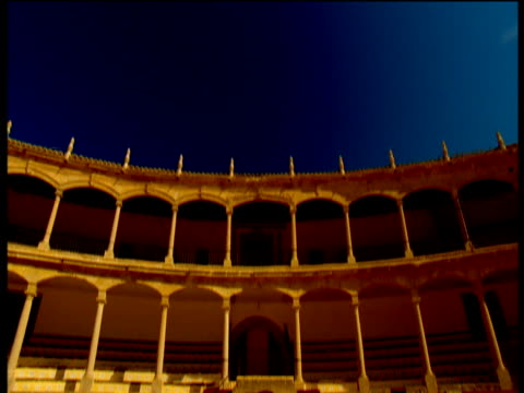 bullring at ronda in spain. - amphitheater stock videos & royalty-free footage