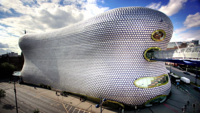 bullring building, birmingham, uk - birmingham england stock videos & royalty-free footage