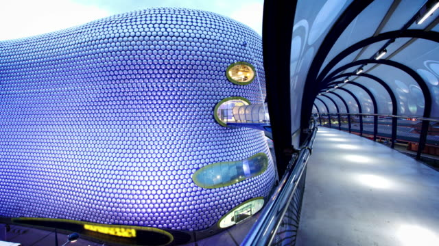 bullring building tunnel, birmingham, uk - birmingham england stock videos & royalty-free footage