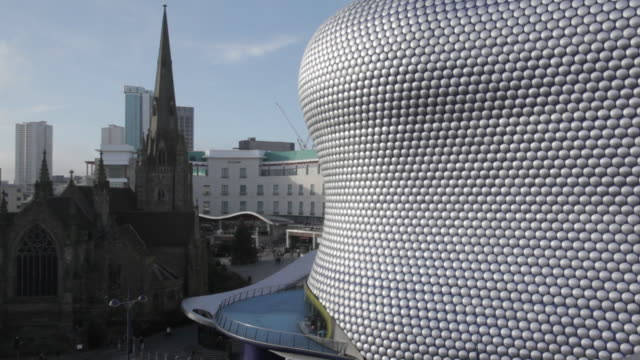 bullring, selfridges, birmingham, west midlands, england, united kingdom  - birmingham england stock videos & royalty-free footage