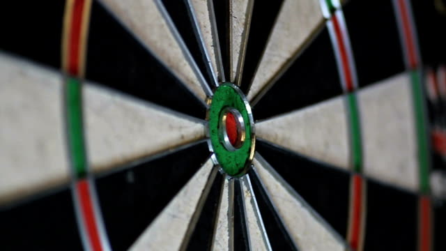 bullseye - dart board stock videos & royalty-free footage