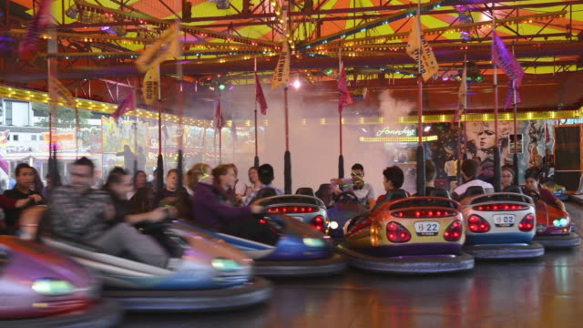 ms bumper cars at carnival / landshut, bavaria, germany - bumper car stock videos & royalty-free footage