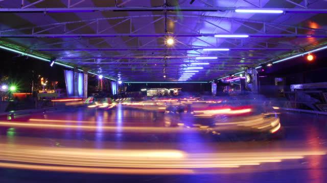 W/S Bumper cars, night, light trails