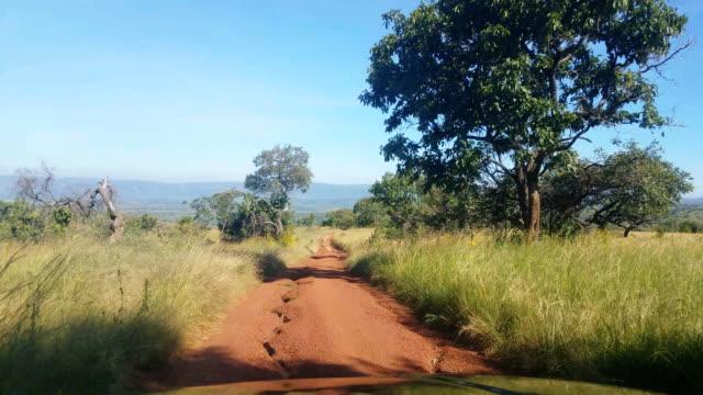 Bumpy dirt Road in Akagera safari, Rwanda