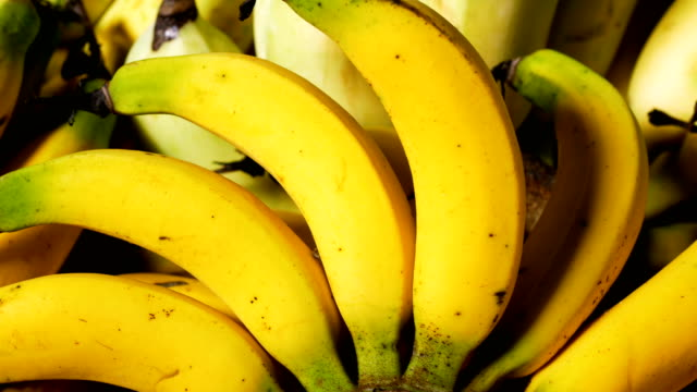 bunch of ripe bananas - banana stock videos & royalty-free footage
