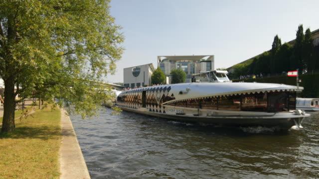 Bundeskanzleramt Berlin Summer View with Spree River and Ship
