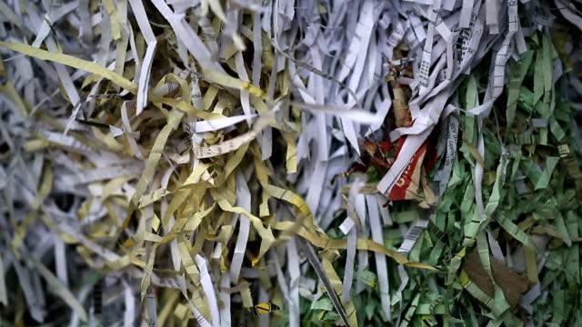 Bundle Of Shredded Paper Close-up