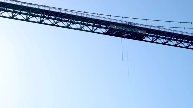bungee jump - bridge built structure stock videos & royalty-free footage
