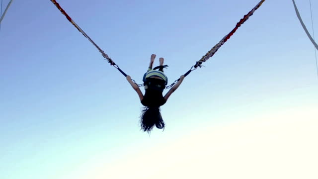 bungee jumping for kids - flexibility stock videos & royalty-free footage