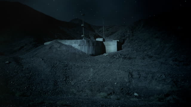 bunker in the desert at night - bomb shelter stock videos & royalty-free footage