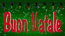 Buon Natale Video.Buon Natale Italian Greeting With Christmas Lights And Snow Background Stock Footage Video