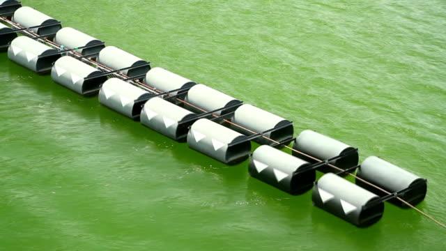 vídeos de stock, filmes e b-roll de bóia flutuando na água - boia equipamento marítimo de segurança