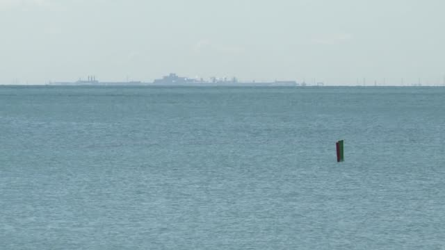 buoy in lake michigan on july 30, 2013 in chicago, illinois - buoy stock videos & royalty-free footage