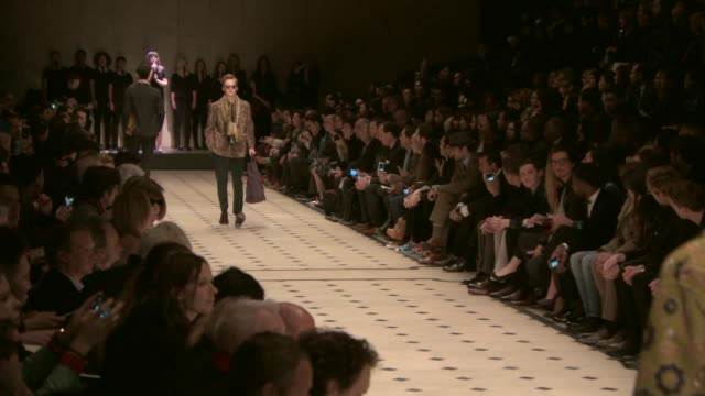 RUNWAY Burberry Prorsum A/W 2015 Showon January 12 2015 in London England