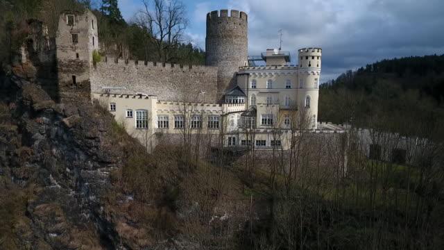 Burg Hartenstein - View of Burg Hartenstein in Lower austria from a stream below 02
