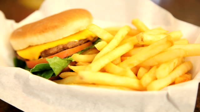 burger and fries - fast food stock videos and b-roll footage