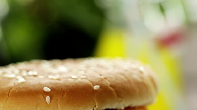 burger and fries - medium group of objects stock videos & royalty-free footage