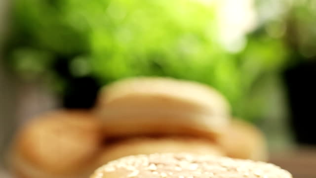 burger - medium group of objects stock videos & royalty-free footage
