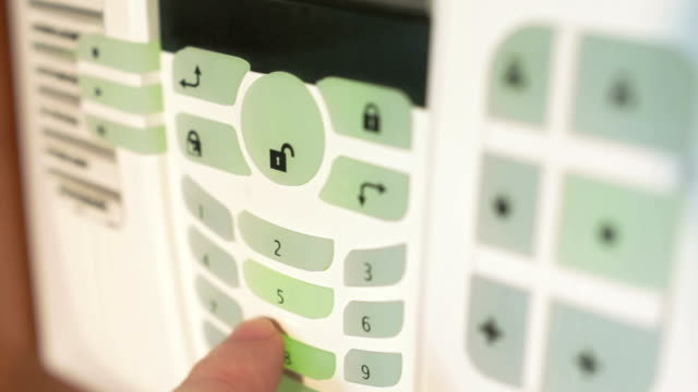 burglar alarm - control panel stock videos and b-roll footage