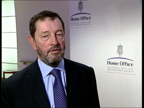 london david blunkett mp yesterday i indicated lord chief justice would want to clarify initial announcement on grounds it had been misinterpreted... - sentencing stock videos & royalty-free footage